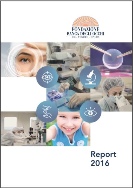 Report 2016 Fondazione Banca degli Occhi