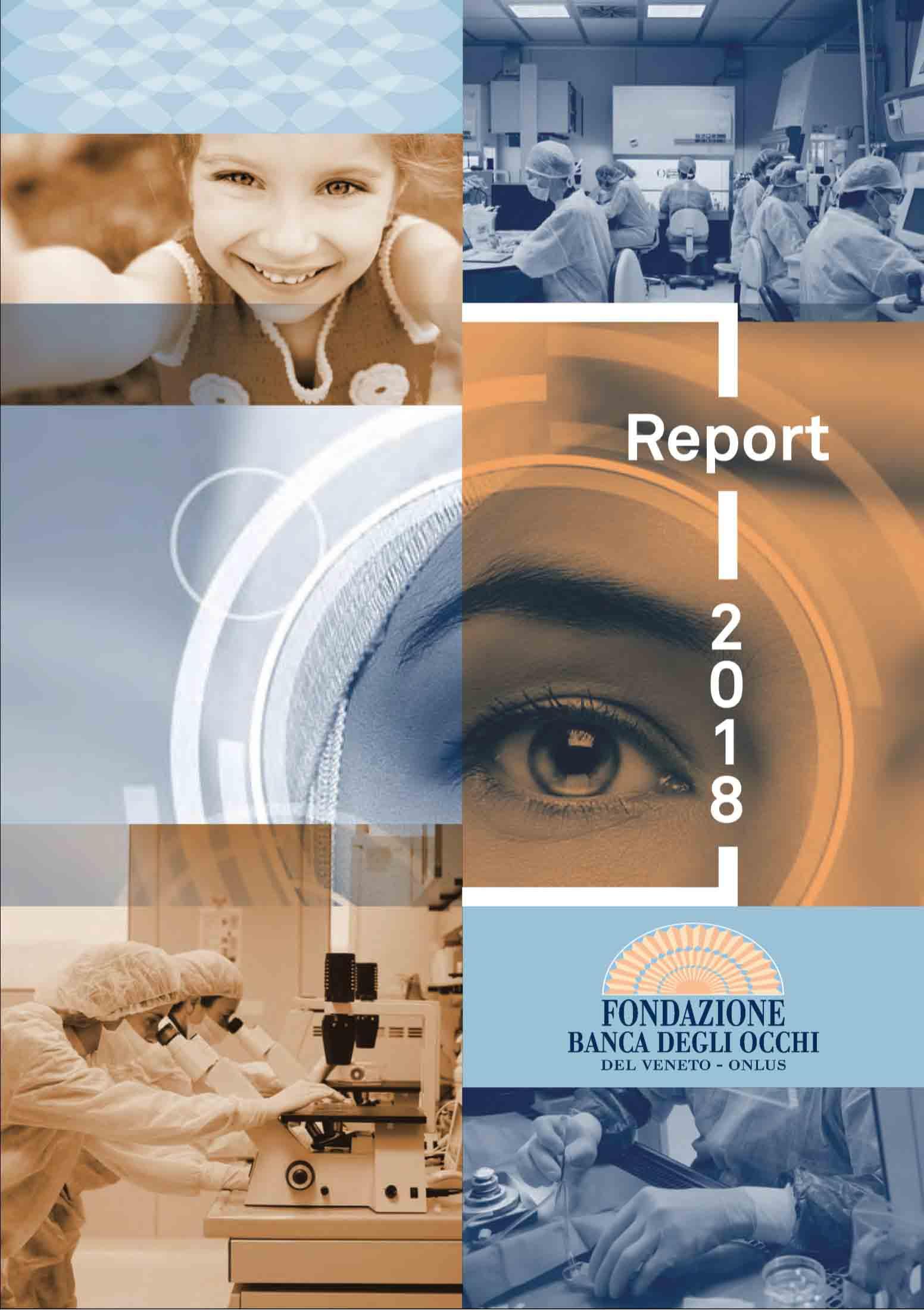 Report Dati 2018 Fondazione Banca degli Occhi