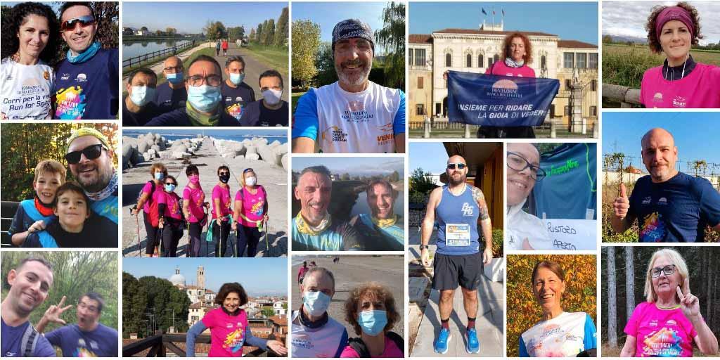 Runners solidali alla Virtual Venicemarathon