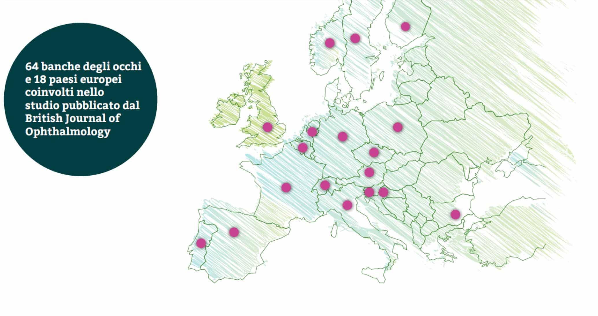 64 banche degli occhi in Europa partecipano ad uno studio sull'impatto del Covid 19
