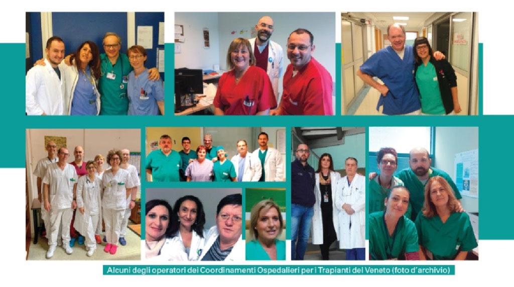 Alcuni degli operatori dei Coordinamenti Ospedalieri per i Trapianti del Veneto (foto d'archivio)