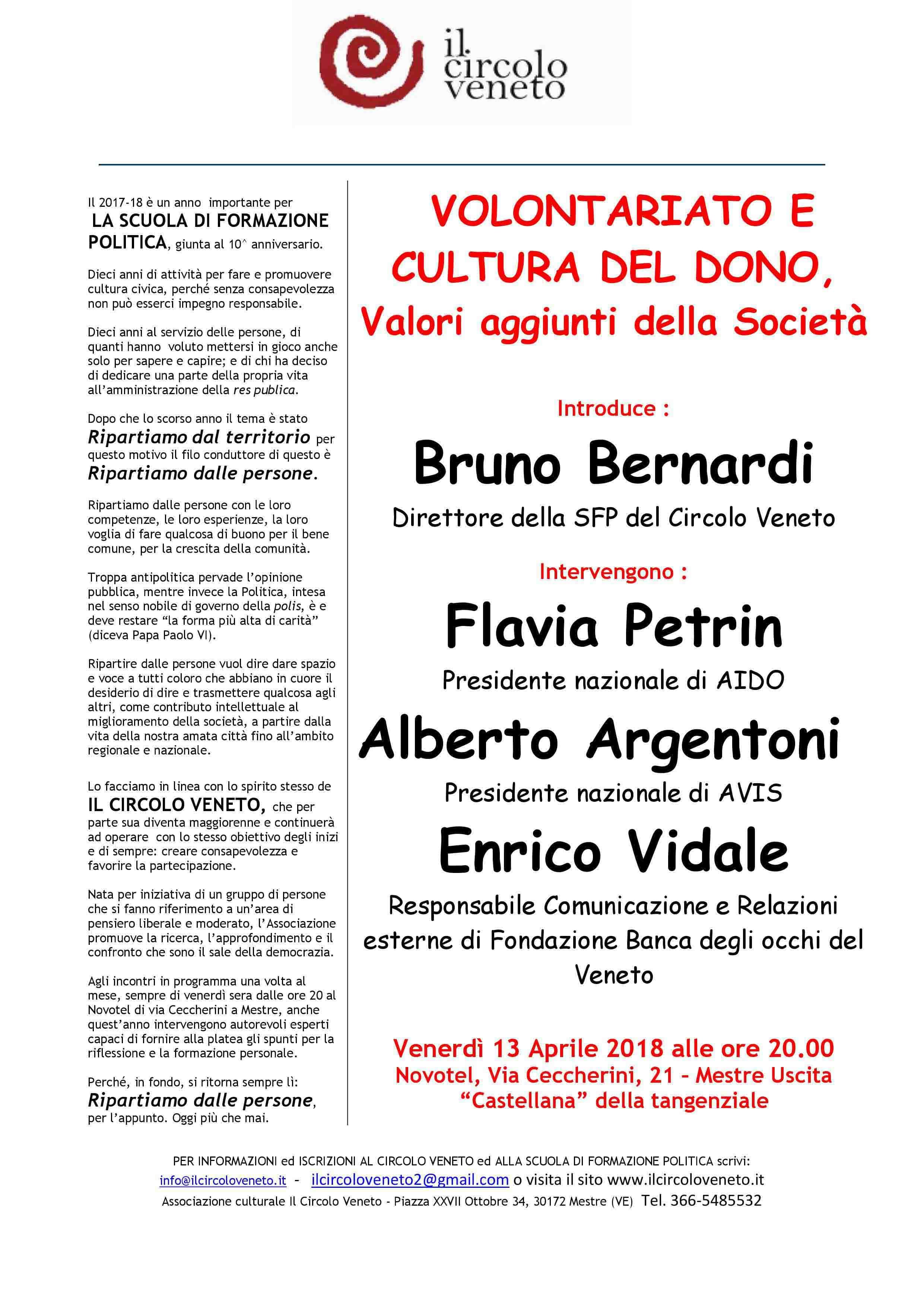 Petrin, Argentoni e Vidale al Circolo Veneto