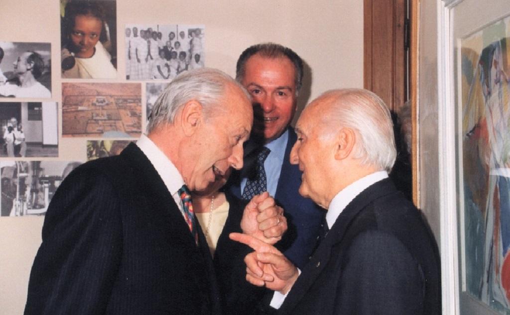I fondatori Rama e Coin con il Presidente Scalfaro